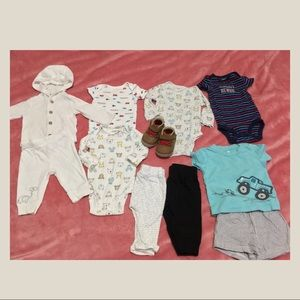 10 pieces of baby clothes 0-3 months
